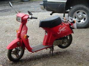 Honda Spree moped.